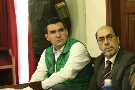 José María Leyes durante la audiencia que se realizó este viernes 4 de mayo de 2018 en Cochabamba. Foto: APG