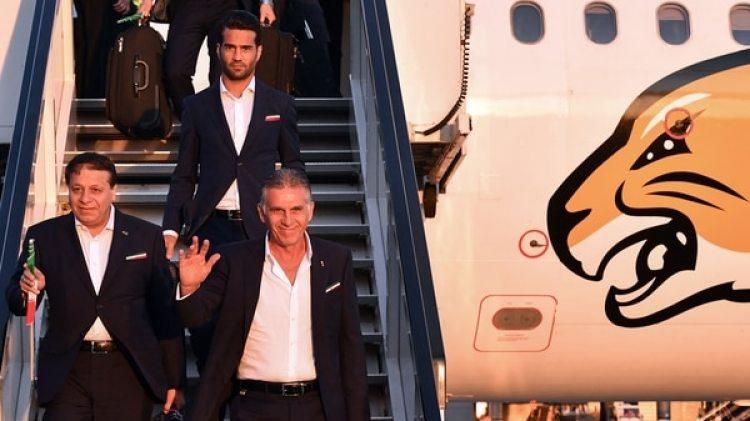 Irán es la primera selección que llegó a Rusia (AFP)