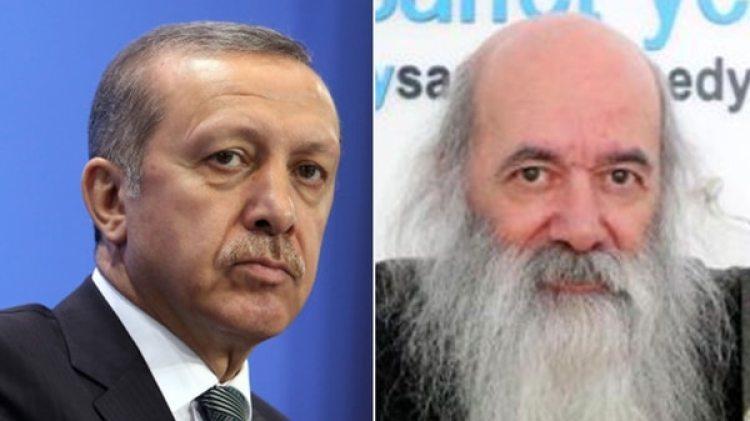 Recep Erdogan y el caricaturista Nuri Kurtcebe