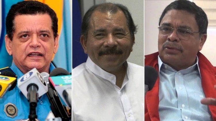 Francisco Díaz, Daniel Ortega y Francisco López