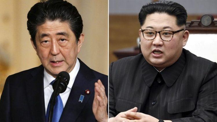 El premier japonés Shinzo Abe y el dictador norcoreano Kim Jong-un