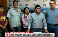 Asambleístas del MAS analizan si apoyan la huelga de Amdecruz por regalías