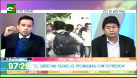 Serrano: «El Gobierno resuelve sus problemas con represión»