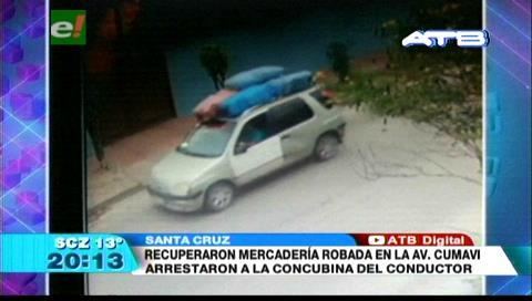 Policía logró recuperar mercadería robada en la avenida Cumavi