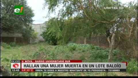 Vecinos hallan el cadáver de una mujer en un lote baldío en el barrio Universitario