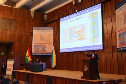 BCB lanza el nuevo billete de 20 bolivianos