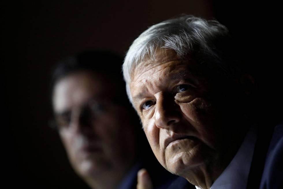 López Obrador en una conferencia de prensa este viernes.