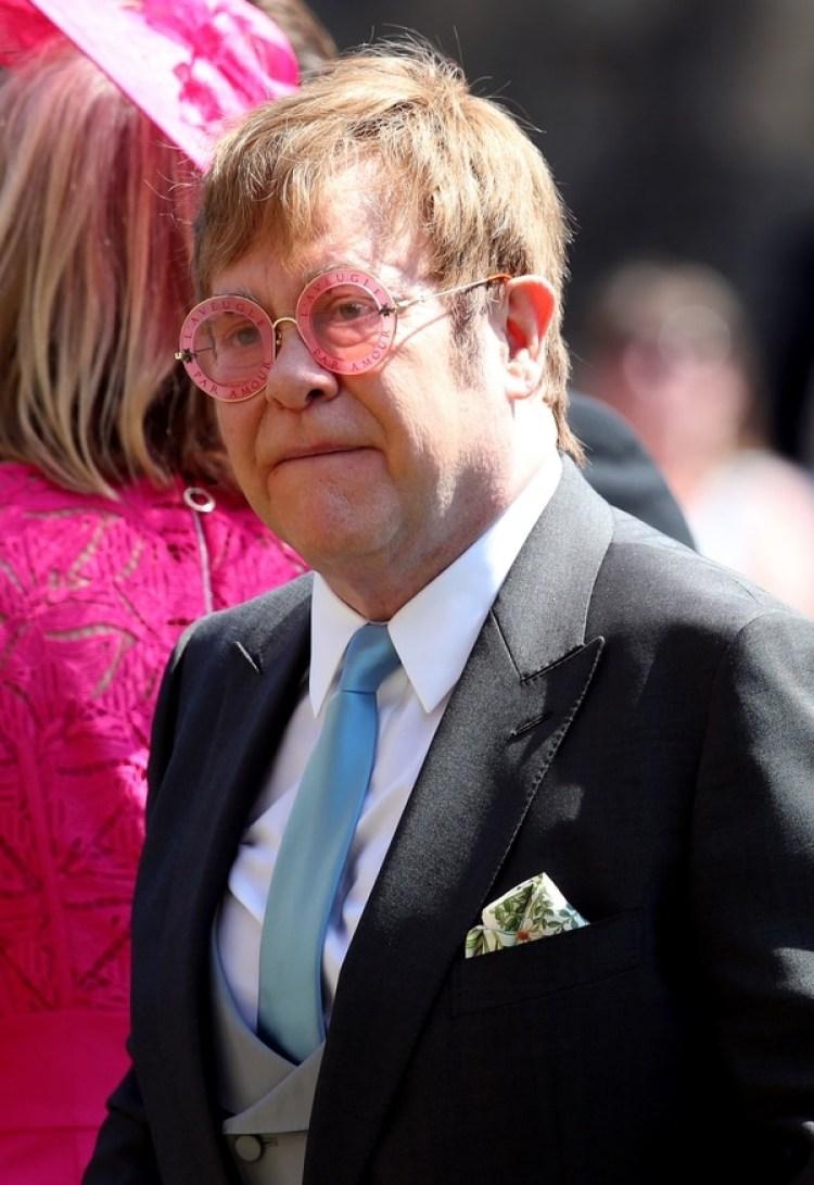 Elton John en la boda del Príncipe Harry (AFP)