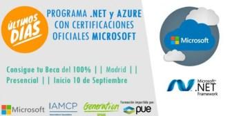 Para aprender a programar Net y Azure, gratis, con certificados oficiales de Microsoft