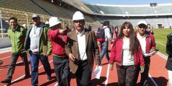 La Paz. Gobernación entrega pista atlética del Estadio Siles y se pone en duda la realización de conciertos