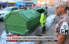 Alcaldía colocó contendores de basura en la avenida Grigotá