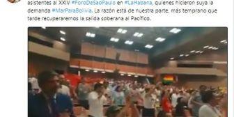 Mensaje de Evo sobre apoyo a la demanda marítima molesta a legisladores chilenos