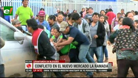 Gremiales se enfrentaron con supuestos dueños de los predios del nuevo mercado La Ramada