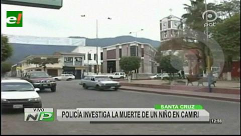 Policía investiga muerte de un niño en Camiri