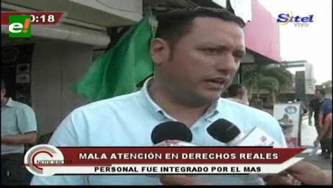 """Diputado Dorado: """"Los masistas metieron a su gente en Derechos Reales"""""""