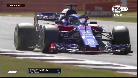 ¡Durísimo accidente! A Brendon Hartley le explotó la suspensión en Silverstone