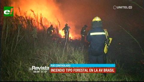 Sofocan incendio de gran magnitud cerca de la feria de los ferreteros