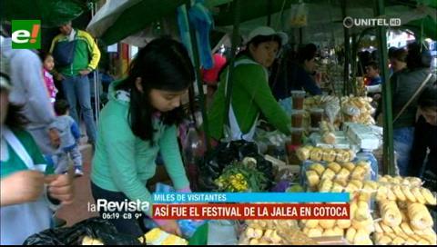 El frío no frenó el Festival de la jalea en Cotoca