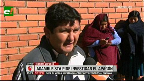 Asambleísta Muñoz pide a la Fiscalía investigar caso del apagón en el Hospital Japonés