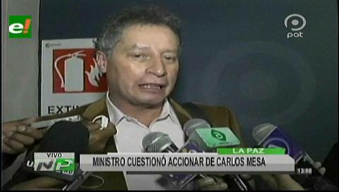 """Navarro: Carlos Mesa tiene un """"cinismo dramático"""" para lavarse las manos en el caso Quiborax"""
