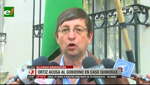 Senador Ortiz acusa al Gobierno de perjudicar al país con el caso Quiborax