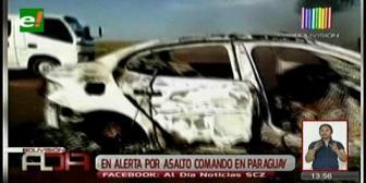 Policía Boliviana en alerta por asalto a un camión con dinero en Paraguay