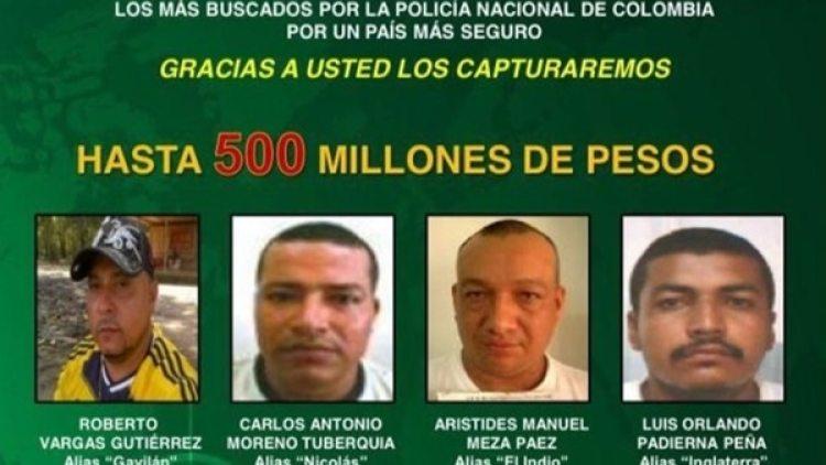 Moreno Tuberquia estaba entre los más buscados en Colombia