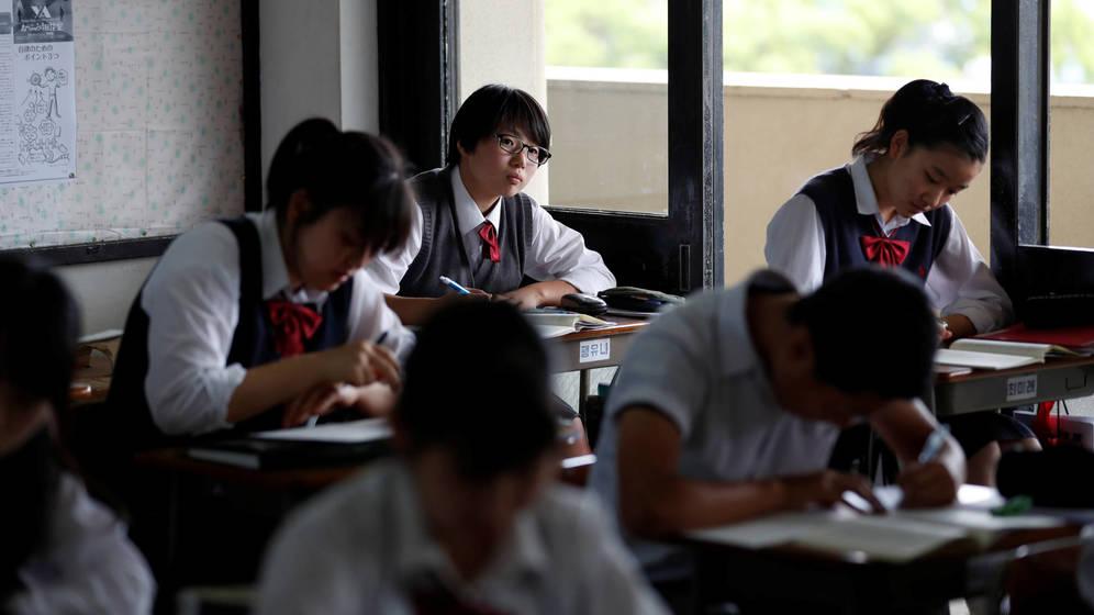 Foto: Estudiantes en una clase de Yokohama. (Reuters/Kim Kyung-Hoon)