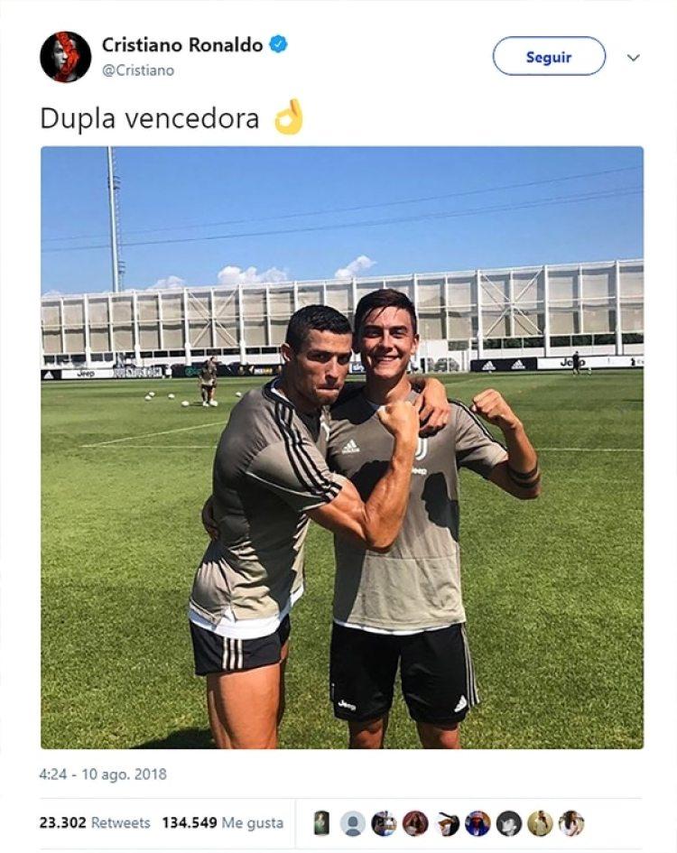 La imagen publicada por los jugadores de la Juventus se replicó en cuestión de segundos