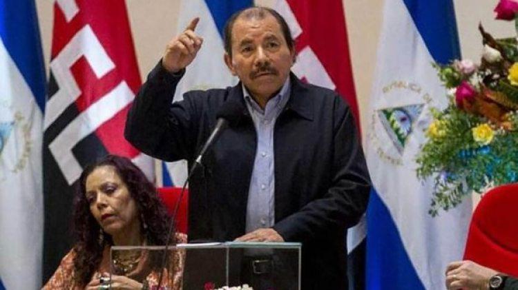 El presidente de Nicaragua, Daniel Ortega, y la vicepresidente Rosario Murillo