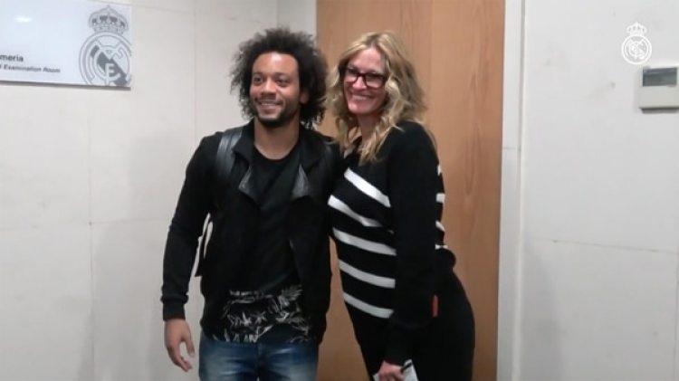 La actriz y el futbolista brasileño Marcelo