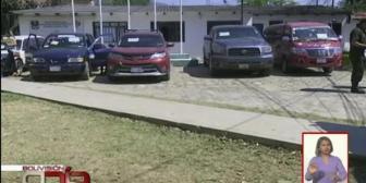 Diprove recuperó seis vehículos robados en Santa Cruz