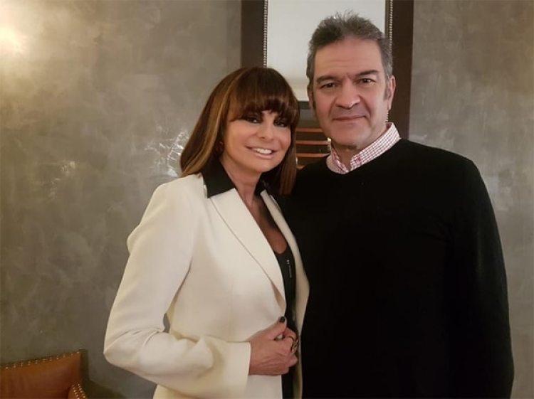 Lucía Miranda con César Bordón