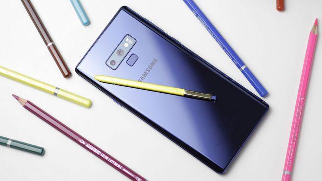 Imagen trasera del Samsung Galaxy Note 9