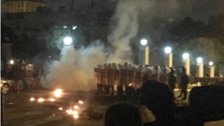 La Policía chavista disolvió la concentración
