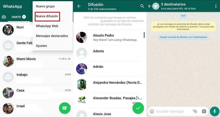 """Cómo usar la opción de """"Nueva difusión"""" de WhatsApp"""