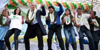 Evo comparte en sus redes la cumbia 'Bolivia dijo no… te vayas'