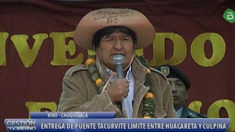 El presidente Evo Morales en Chuquisaca