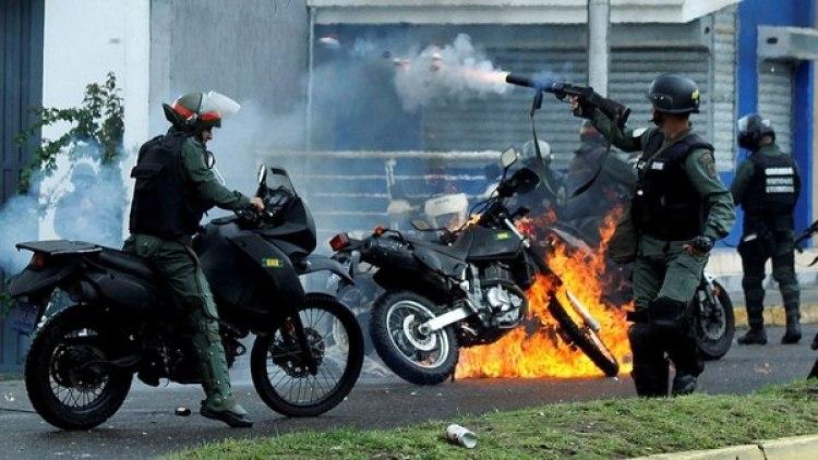 El régimen de Nicolás Maduro reprimió a la población civil en las protestas antigubernamentales de 2017