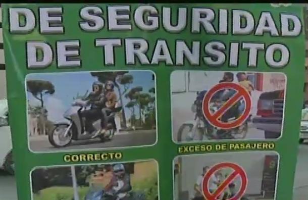 Tránsito llama a la precaución en la conducción de motocicletas