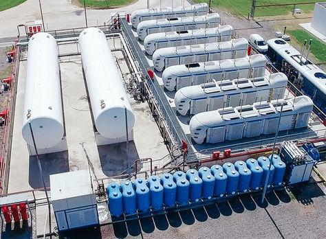 La planta de producción de GNL de Buquebus, Argentina. Foto: www.galileoar.com