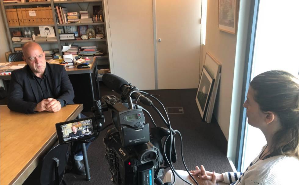 Paula García entrevistando a Egbert Fransen, Ámsterdam