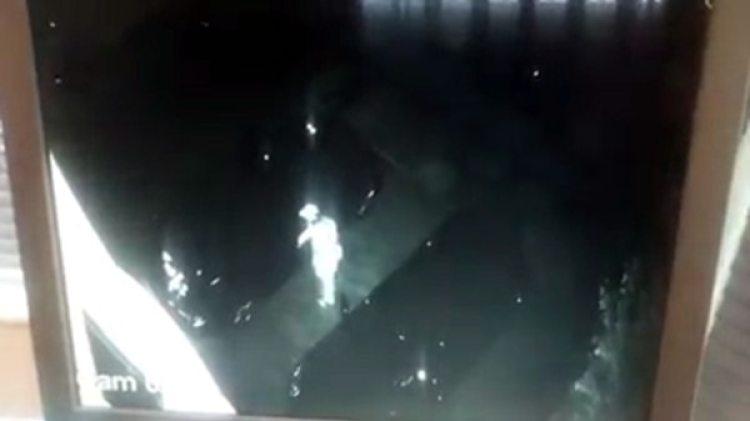 El delincuente se acercó al auto y abrió la puerta