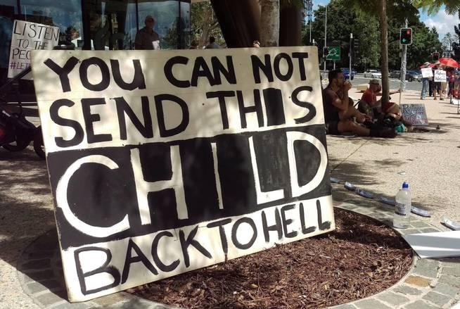 Manifestación en Brisbane: