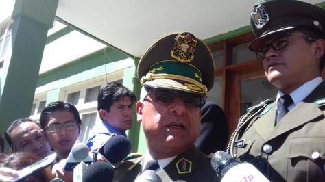 El comandante de la Policía, general Faustino Mendoza