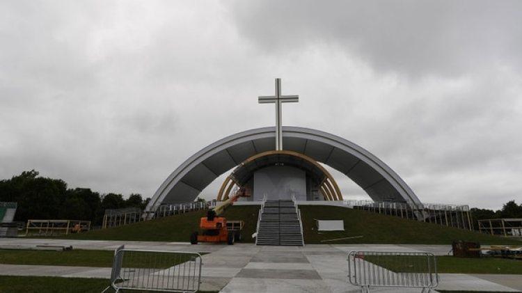 Uno de los escenarios desde donde Francisco se dirigirá a los fieles, este fin de semana en Irlanda (Reuters)