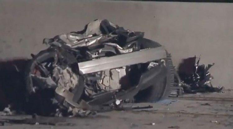 El lugar del accidente en San Diego