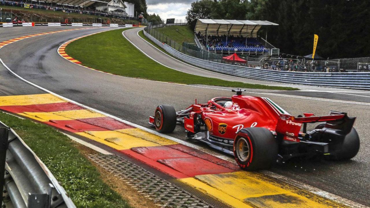 Resultado de imagen para Sebastian Vettel consiguió su quinta victoria de la temporada en Spa-Francorchamps