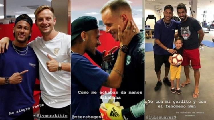 El encuentro de Neymar con sus ex compañeros