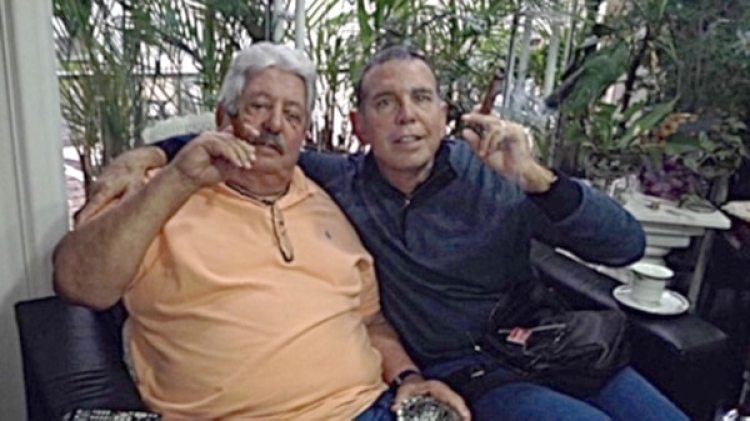 Napout junto a Rafael Esquivel, ex titular del fútbol venezolano